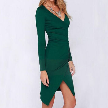 Summer Long Sleeve Sexy Women Dresses Femininas Vestidos Casual S-M-L-XL PE3305*50
