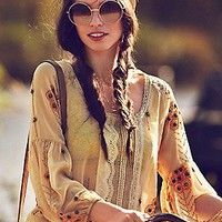 Free People Clothing Boutique > Centered Crochet Blouse