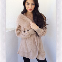 Cinnamon Snugs Cardigan- Mocha