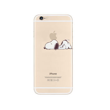 Snoopy Lazy Sleep Nope Apple iPhone 6s 6 Plus 5s 5 Case Transpar e24051294