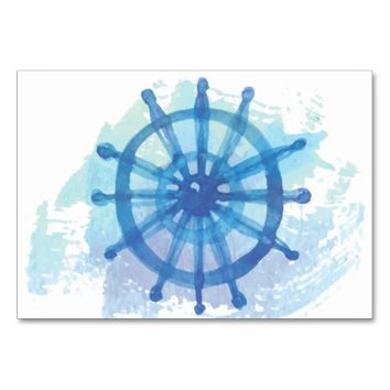 Thank You Nautical Placecards Card