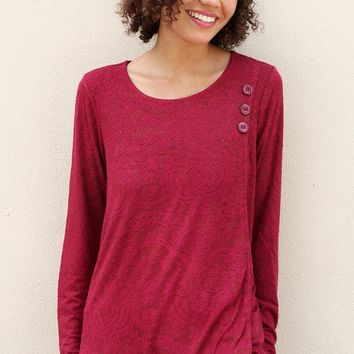 Overlay Tunic - Crimson by Habitat Clothes to Live in