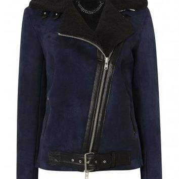 Misco Blue Shearling Jacket