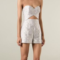 Michael Kors Perforated Playsuit - Mcmarket Monaco - Farfetch.com