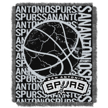 Spurs  48x60 Triple Woven Jacquard Throw - Double Play Series