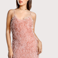Fluffy Fringe Cami Dress -SheIn(Sheinside)