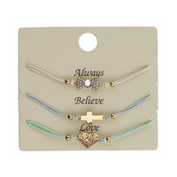Bow Heart and Cross Wristwear - Jewellery By Diva - Accessories - Miss Selfridge