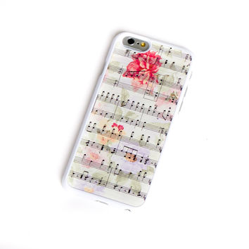 Flower And Music iPhone 6 Case iPhone 5 iPhone 5s