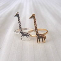 Cute Giraffe Ring - Gold and Silver