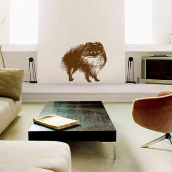 Pomeranian Breed Decal Pet Animal Wall Decal Sticker Dog Puppy Decal 10519