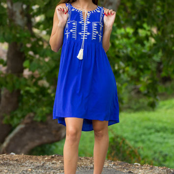 SALE-Sincerely Yours Dress-Royal