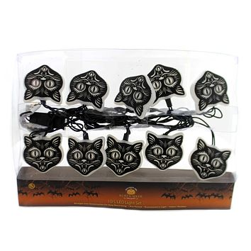 Halloween BLACK CAT MASK LED LIGHT SET Straight Line Construction Hw1724