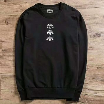 Adidas black women man Casual Hedging sweater top H-AGG-CZDL
