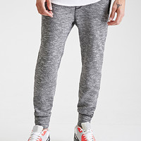 Marled Knit Zippered Joggers