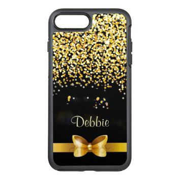 Gold Glitter OtterBox Symmetry iPhone 8 Plus/7 Plus Case