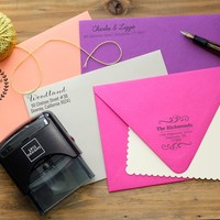 -New LOW Price- Personalized Self Inking Stamps