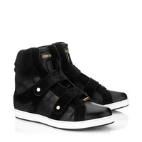 Black Nappa and Suede Sneakers | Yazz | Cruise 2013 | JIMMY CHOO Sneakers