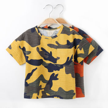 T Shirt For Boys Clothing Summer 2017 Nununu Camouflage Camo Cotton Tshirt Kids Clothes 9M/12M/18M/2T/3T MFS-X8806