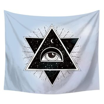 All Seeing Eye In The Sky Boho Tapestry
