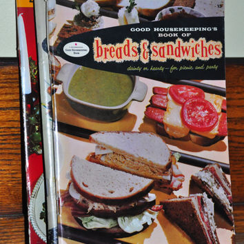 1950s Cookbook. Good Housekeeping Book of Breads & Sandwiches. 1950s Recipe Booklet. Retro Recipes.