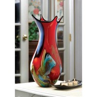 4 Points Art Glass Vase