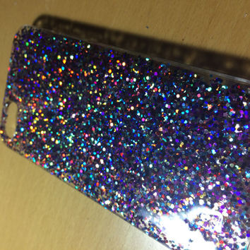 Multi-Coloured Glitter Iphone 5 case 5s case 4 4s 5c 6 6plus Case cover, Glittery Sparkly bling case cover Real glitter. Hard resin.