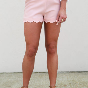 Little Scalloped Shorties {Blush}