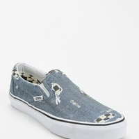 Vans Checkered Denim Women's Slip-On Sneaker - Urban Outfitters
