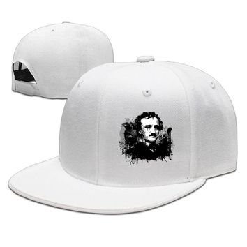 Edgar Allan Poe Autobiography Printed Unisex Adult Womens Fitted Hats Mens Hip-hop Hat