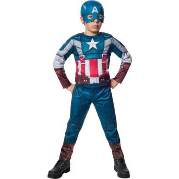 Boys Retro Suit Captain America Costume