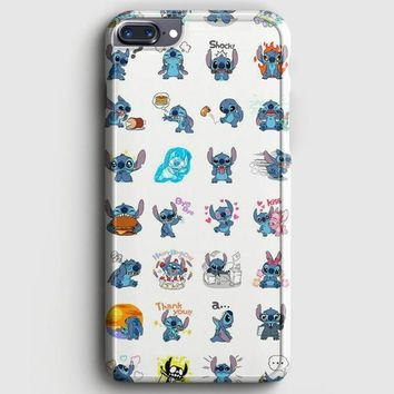 Lilo And Stitch Pattern iPhone 7 Plus Case | casescraft