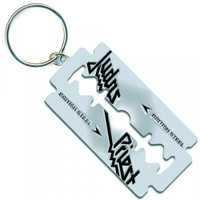 Judas Priest British Steel Razor Blade Metal Key Chain - Judas Priest - J - Artists/Groups - Rockabilia