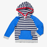 Egg Boys Striped Knit Hoodie - W4CK3913 - FINAL SALE