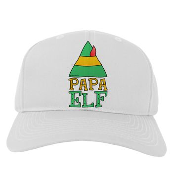 Matching Christmas Design - Elf Family - Papa Elf Adult Baseball Cap Hat