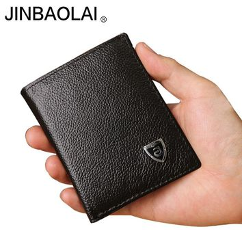 Small Genuine Leather  Men's Wallet