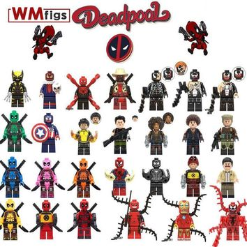Deadpool Dead pool Taco Venom She- Gallery  Legoings Carnage Figure Brick Building Blocks Super Hero Model kit Toys for Children Gifts AT_70_6