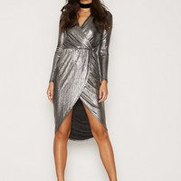 Wrap Foil Dress, NLY One