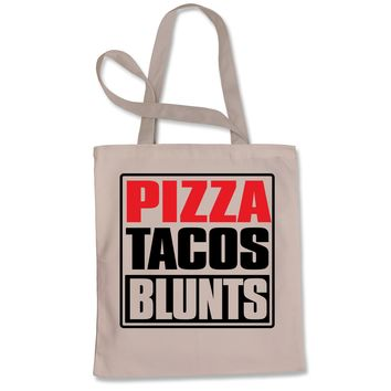 Pizza Tacos Blunts Shopping Tote Bag