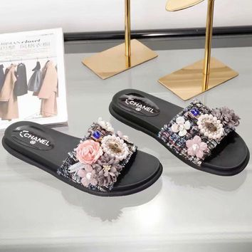 Chanel Women Fashion Casual  Slipper Shoes