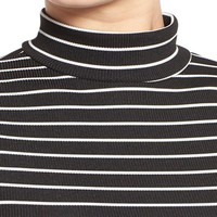 Missguided Stripe Turtleneck Crop Top | Nordstrom