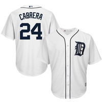 Miguel Cabrera Detroit Tigers Majestic Official Cool Base Authentic Collection Player Jersey – White