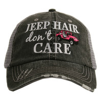 Jeep Hair Don't Care Trucker hats, baseball hats