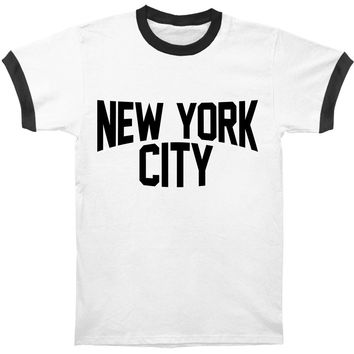 Novelty Men's  New York City Slim Fit T-shirt White/Black