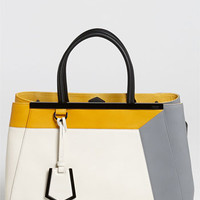 Fendi '2Jours 3D - Medium' Leather Shopper | Nordstrom
