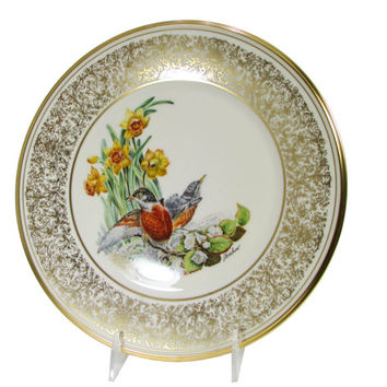Lenox Robins, Boehm American Bird Plate Annual Limited Edition Birds Circa 1977