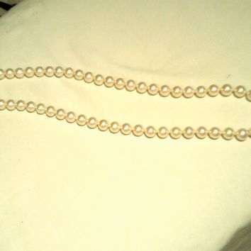 15' 8mm Majorica Organic Pearl Necklace, Made in Spain - Lovely!