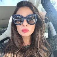 Fashion Cat Eye Sunglasses Women Brand Designer 2018 Mirror Sunglass Female Lady Sun Glasses For Women oculos Lunettes de soleil