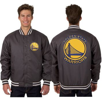 Golden State Warriors Poly Twill Jacket - Charcoal
