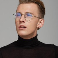 Wholesale New Vintage Round Glasses Frames Women Metal Gold Frame Glasses Men Nerd Glasses For Computer Clear Lens Glasses Gafas de vista online direct from China Factory - Factory Price Free Shipping.