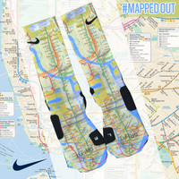 Custom Nike Elite Socks - Mapped Out | Lacrosse Unlimited